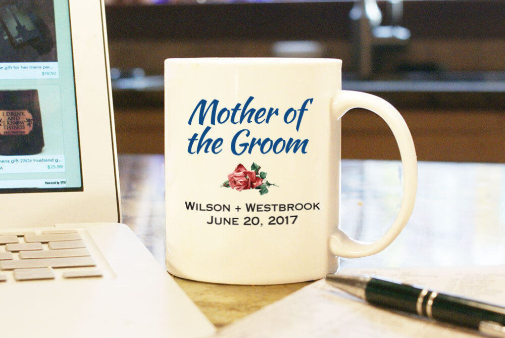 Wedding Coffee Mug Cup - Mother Of The Groom Custom Color Personalized Gift Present Party Bridal With Date & Couple's Name