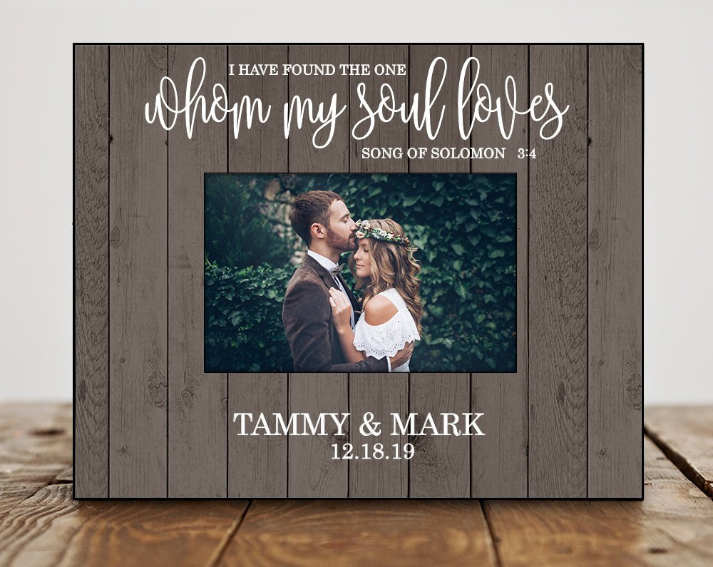 Personalized Wedding Gift For Couple Bride Shower Gifts Photo Frame Picture Quote 8086