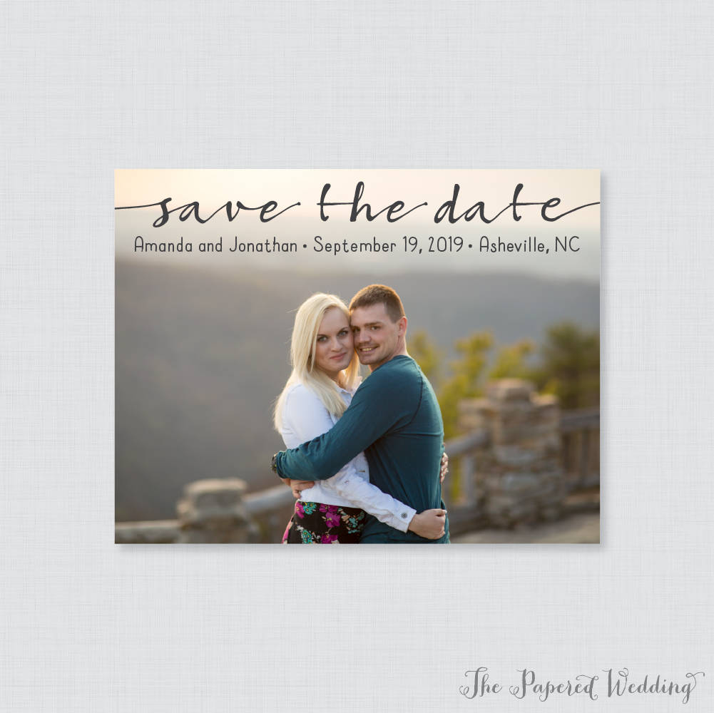 Printable Or Printed Photo Save The Date Cards - Casual, Modern Our For Wedding, Casual Picture 107