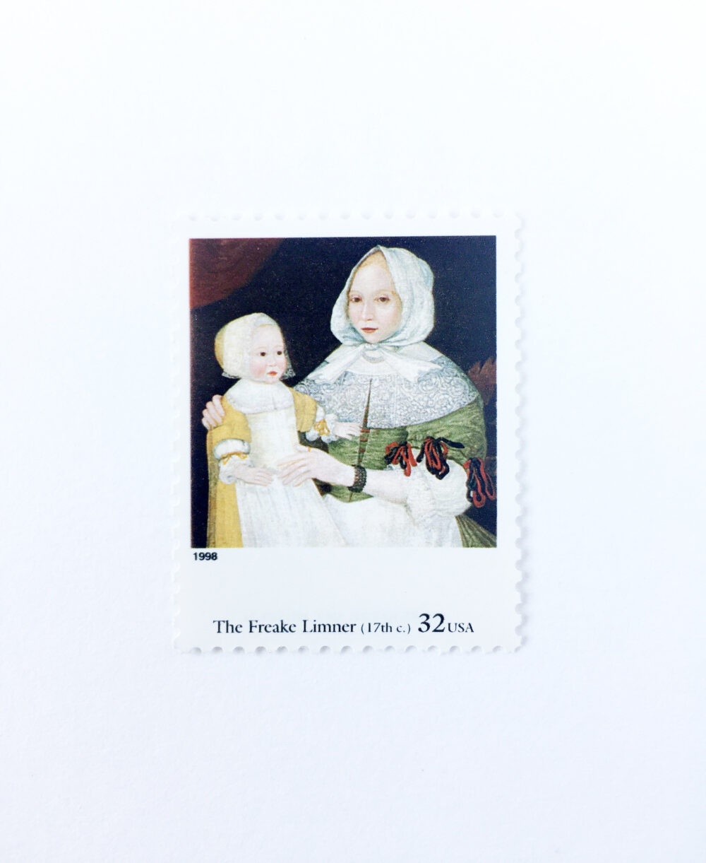 5 Freake Limner Postage Stamps // Unused 32 Cent Stamp Mrs & Baby Four Centuries Of American Art Wedding Postage