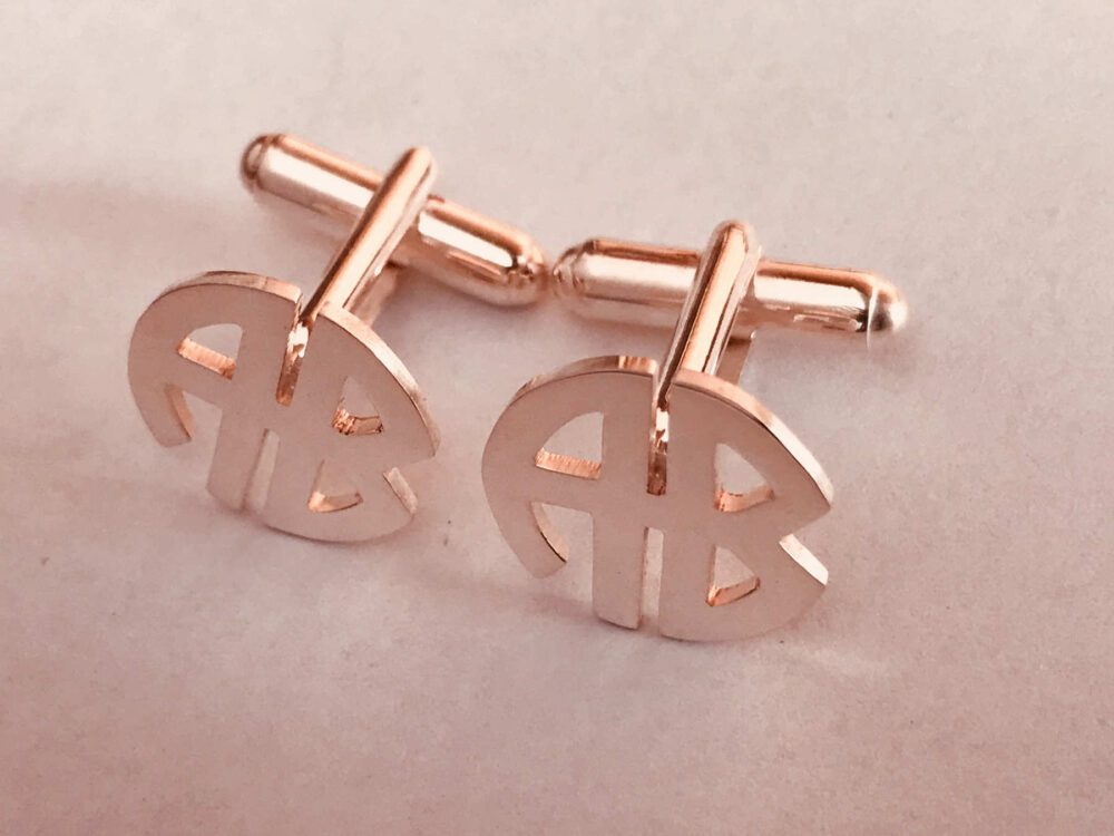 Wedding Cufflinks For Groom, Groomsmen Cufflinks, Personalized Initials Monogram Cufflinks, Cuff Links Custom