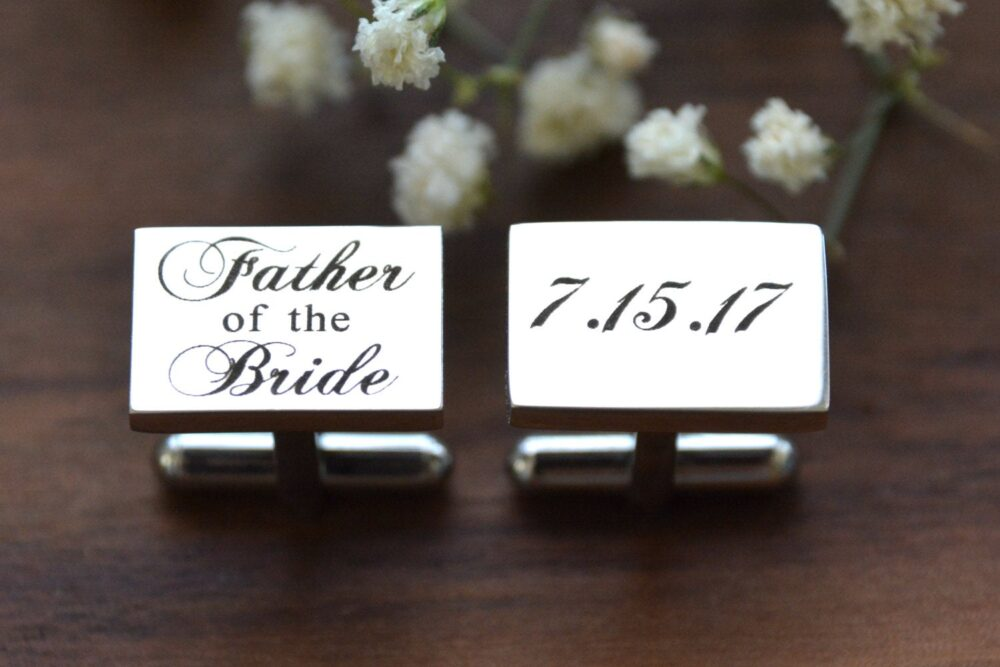 Personalized Cufflinks, Custom Wedding Groomsman Cufflinks Personalized, Groomsmen Groom