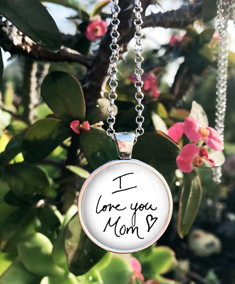 Custom Handwriting Necklace - Your Loved Ones Or Signature Child's Ones Handwriting Charm