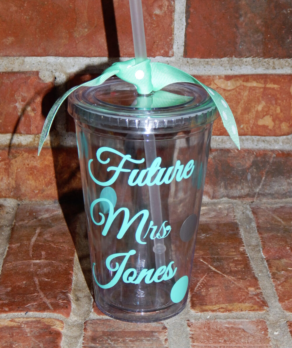 Engagement Gift- Future Mrs. Cup- Bride Tumbler - Wedding Personalized Bridal Shower Cups