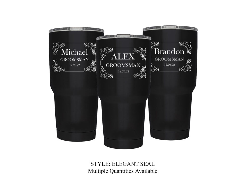 Groomsman Gift -Personalized Engraved 30/20/10 Oz Stainless Steel Insulated Tumbler, Groomsmen Gift, Like A Yeti...but Better; Choose Qty