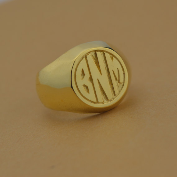 Personalized Monogram Ring-Any Intial Ring, Name Ring, Initials Ring, Monogrammed Gits, Silver Rings For Women