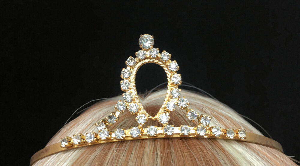 Vintage Gold Teardrop Rhinestones Tiara, Bridal Headpiece, Wedding Crown, Sweet 16, Pageant, Hair Accessory Ready To Be Worn At Your Event