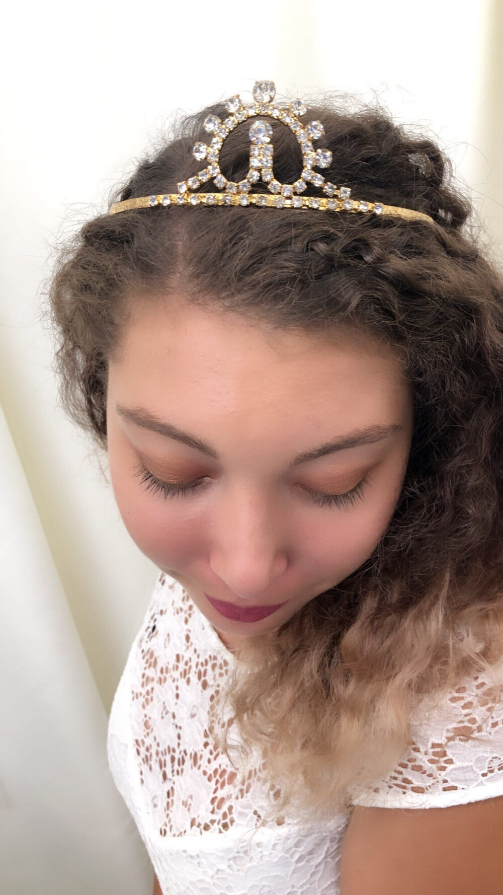 Vintage Rhinestone Tiara, Gold Or Silver Sunset Stunning Detailing Wedding Prom Sweet 16 Quinceanera Princess Or Queen Costume