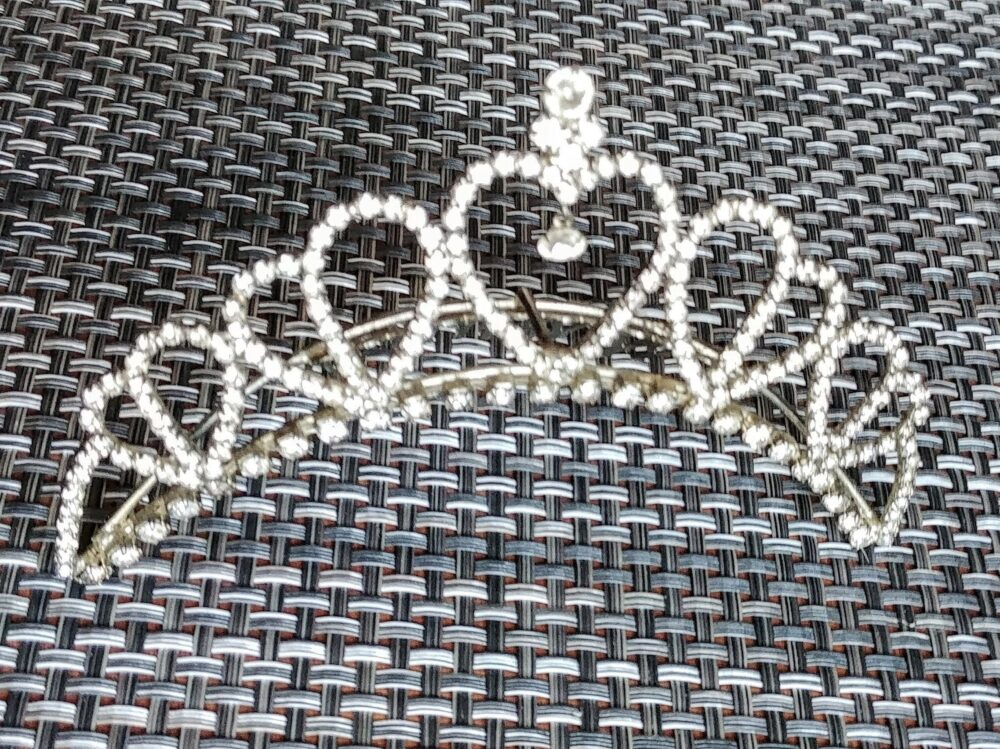 Wedding Tiara Crown Quenceanera Prom Pageant Costumes Hair Accessories Jewelry Clear Rhinestones Silver Tone Vintage Vendimia