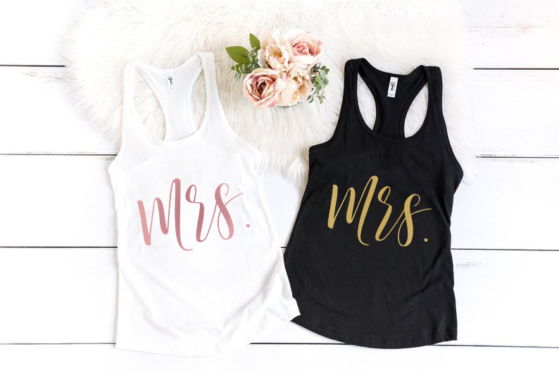 Mrs Tank Top, Shirt, Bride Crop Future Wedding Tank, Bridal Engagement