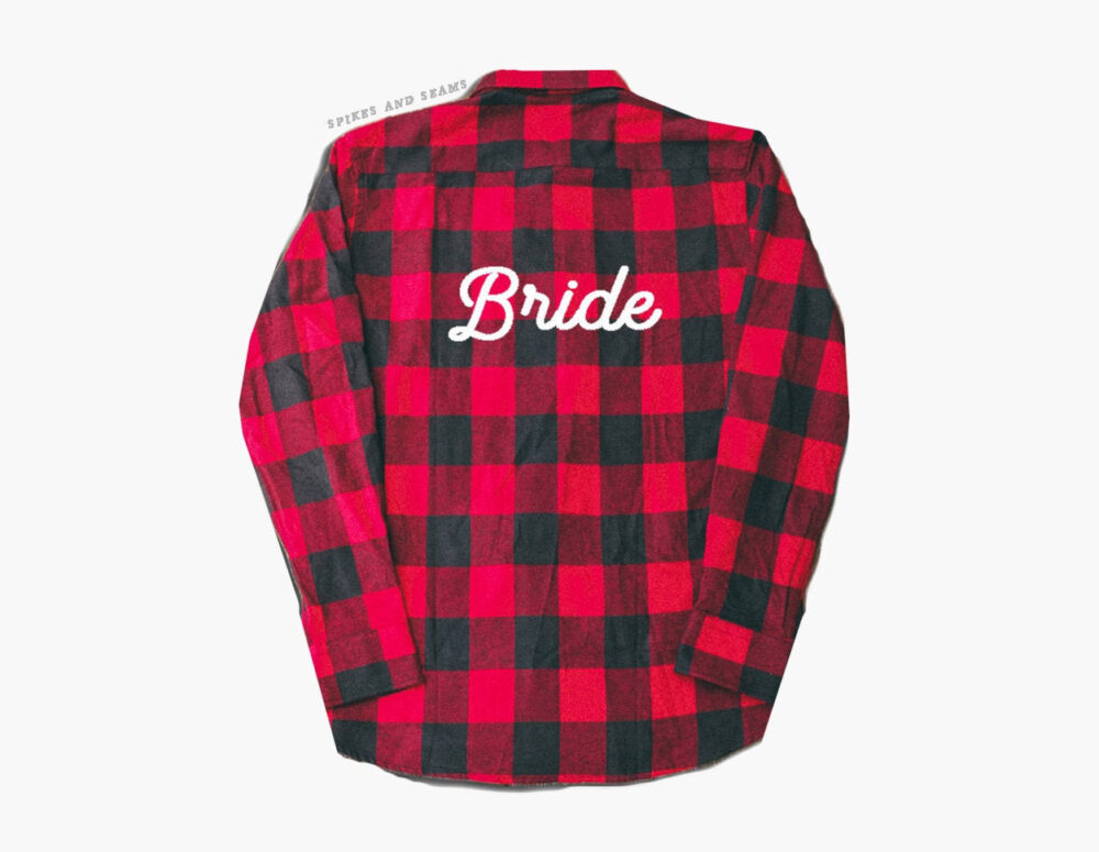 Bride Flannel Shirt, Custom Wedding Flannel, Fiancee Shirt, Country Wedding, Engagement Gift, Honeymoon, Bridesmaid Flannel, Wedding