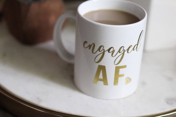 Engagement Gift. Engaged Af Coffee Mug. Bridal Shower Wedding Engagement Couple Married Gift