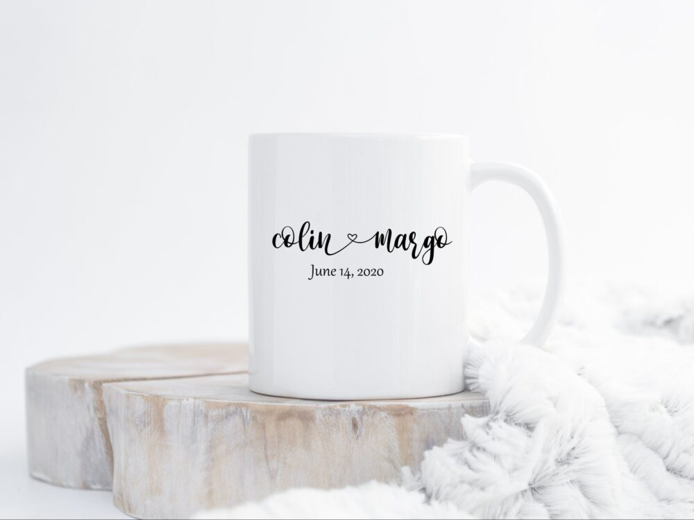 Personalized Couple Mugs - Engagement Gift For Her | Wedding Custom Mug Boyfriend