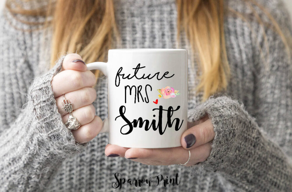 Future Engagement Mug| Gift| Personalize Mrs Gift Mug For Her| Proposal Announcement| W14