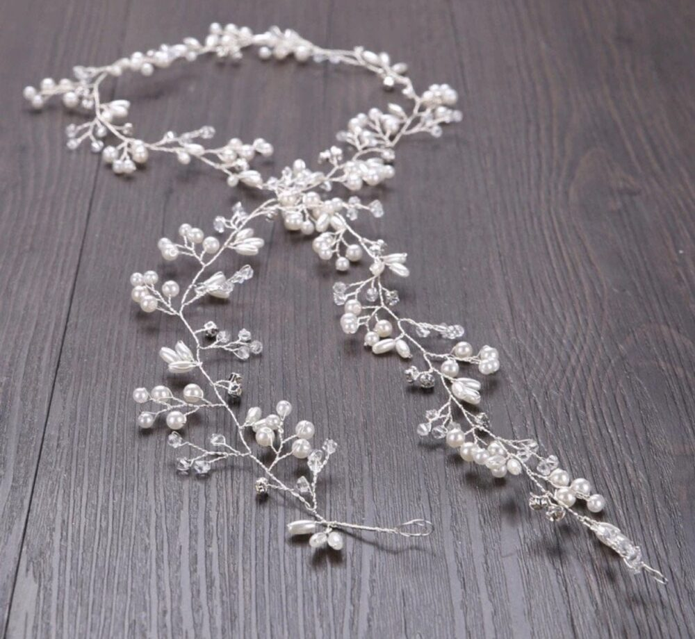 Wedding Hair Comb Pin Accessories Jewelry Bridal Pearls Crystal Crown