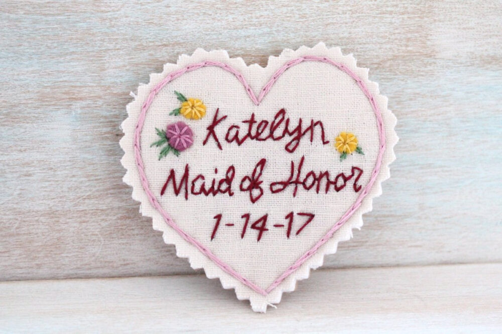 Maid Of Honor Gift. Honor. Wedding Dress Label. Patch. Bridesmaid Dress. Will You Be My Bridesmaid