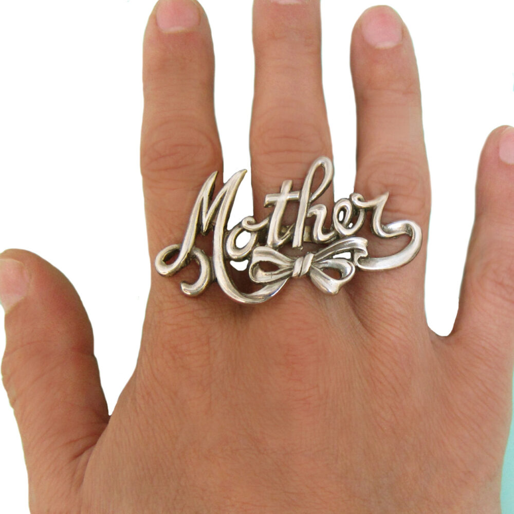 Mother Ring Two Finger Mom Jewelry Mothers Day Silver Gold Sterling Statement