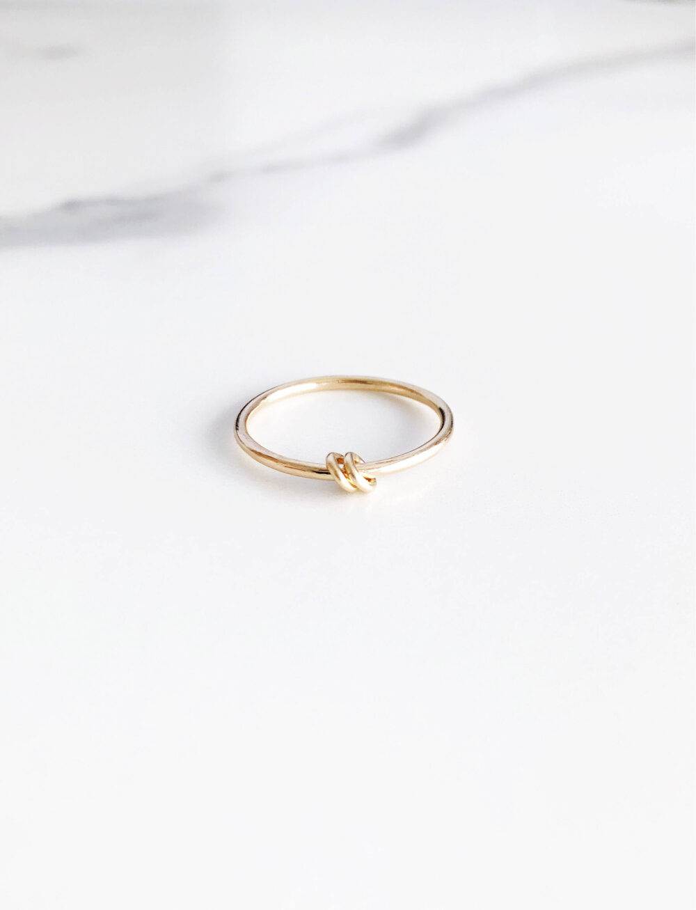 Nahiku Mother's Ring - Gold Ring, Thin Ring, Stack Ring, Stacking Ring, New Mom Gift, Gold Knot Ring, Gift For Mom, Smooth Ring, Mom Jewelry