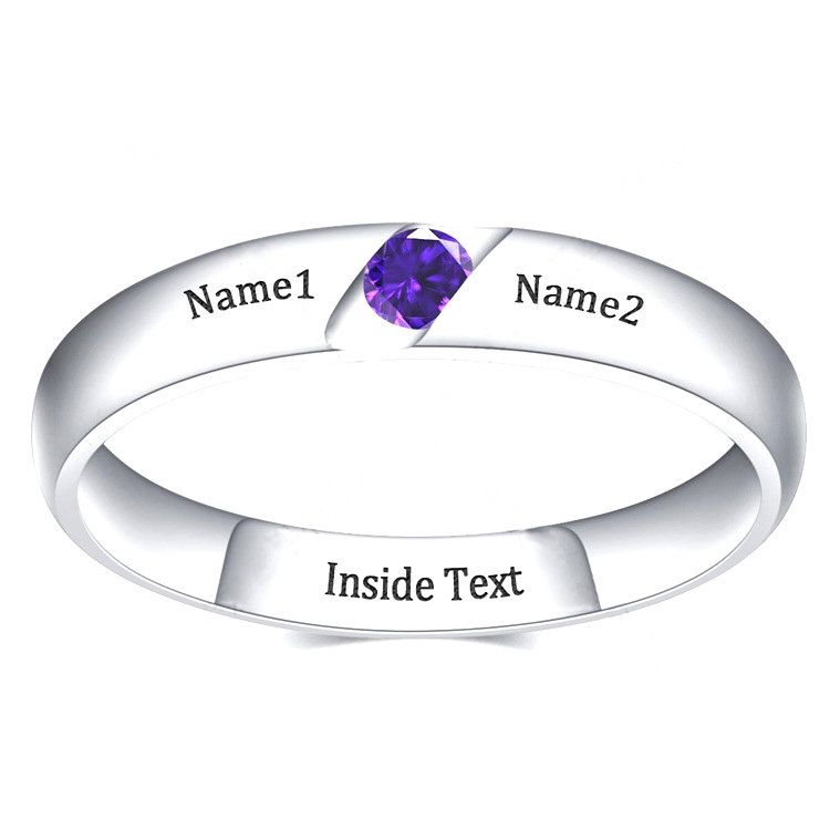 Mothers Ring 1 Stone 2 Name, Birthstone Rings For Mom, Promise Rings, Mother Daughter