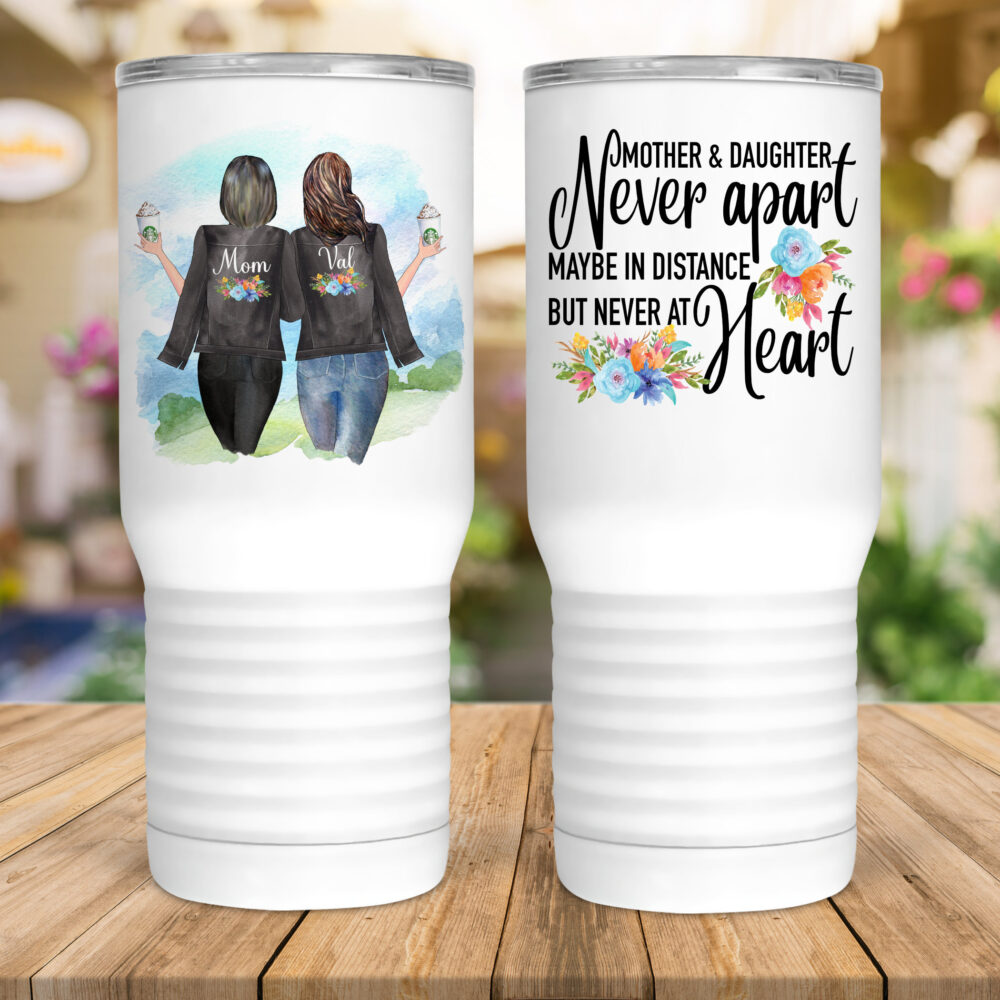 Mother & Daughter Forever/Miles Away/Gift For Mom/Mother's Day/Mom's Birthday/Custom Wine/Mom Wine Glass/Girlfriends/Best Frienmotherds/