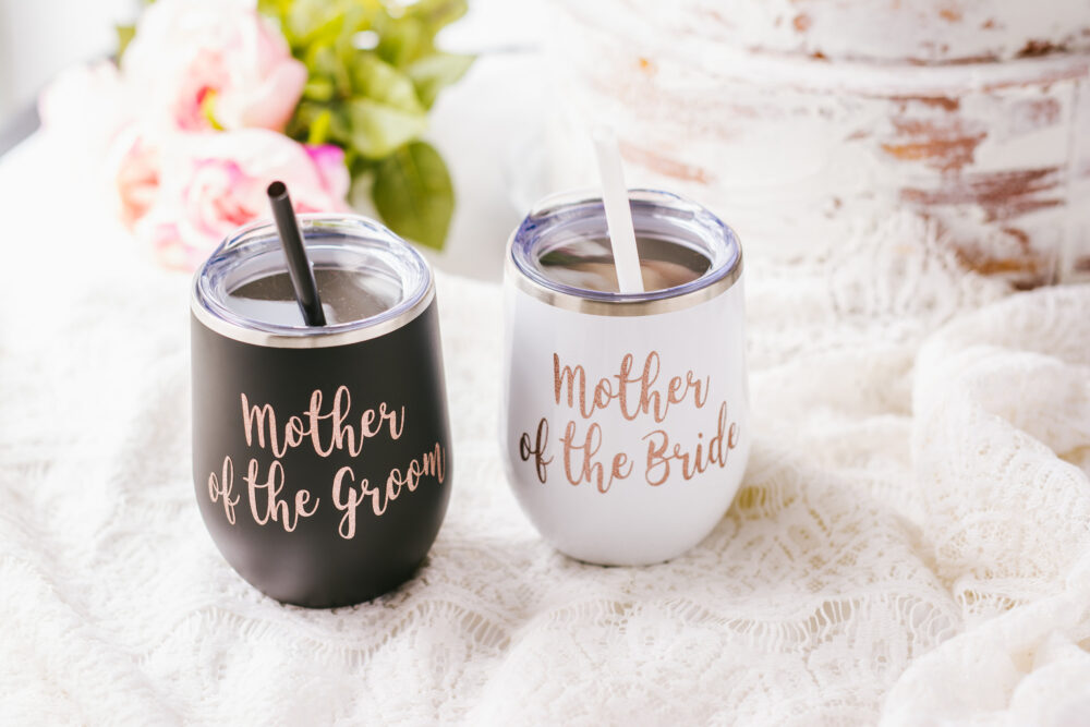 Mother Of The Bride Wine Tumbler - Groom Gift Idea