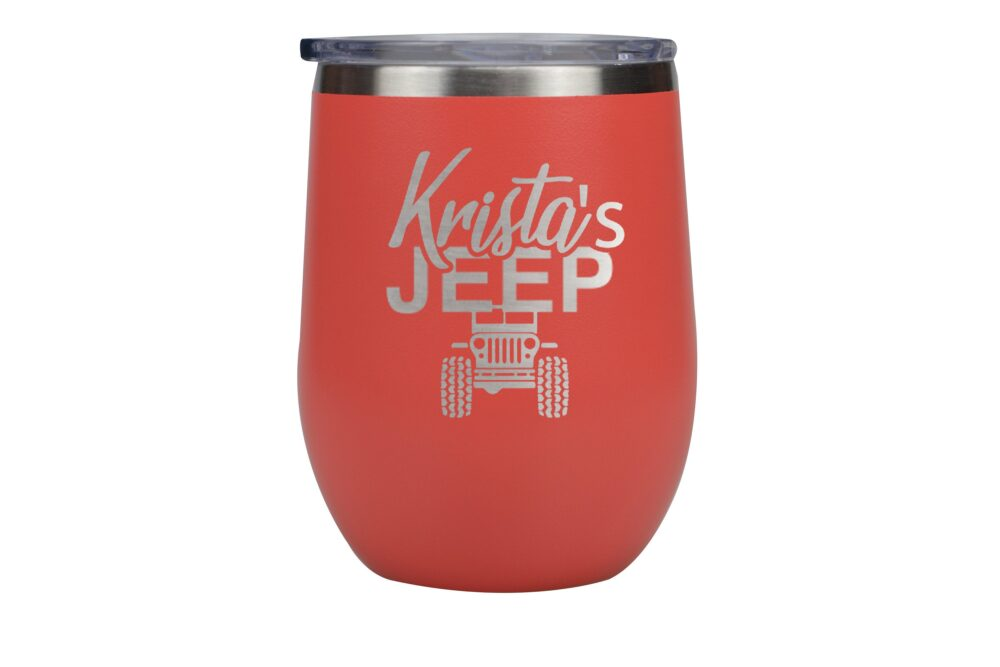 Personalized Jeep Wine Cup, Mother's Day Gift, Gift For A Girl, Insulated Fan Idea