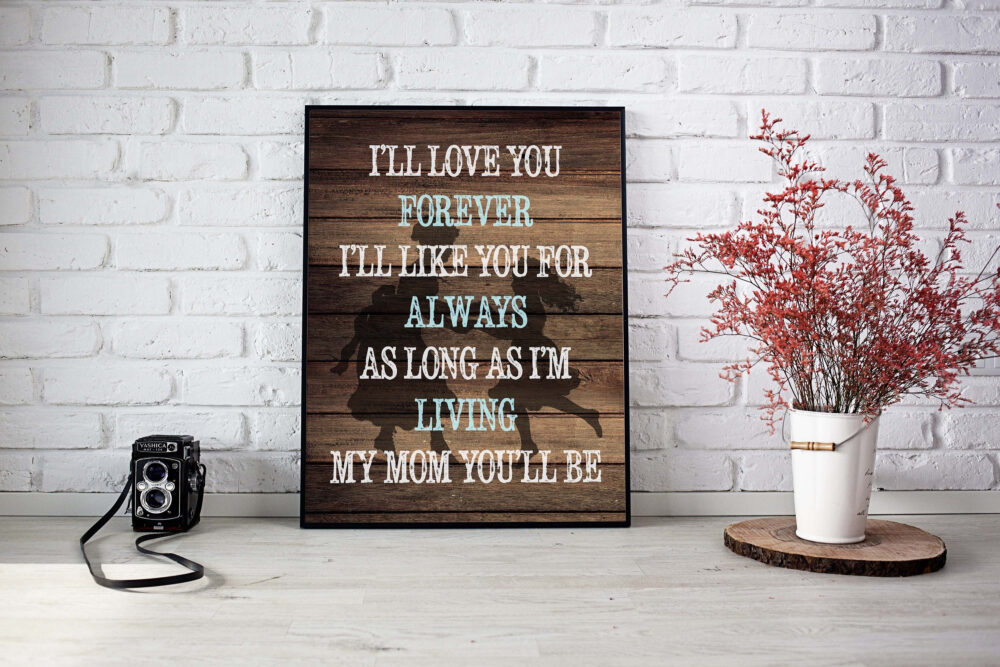 Mother & Daughter Quote, Mother Daughter Poem, Mothers Day Print, Gift For Mom, Mommy Quote Canvas, Rustic Mother, Grandparents