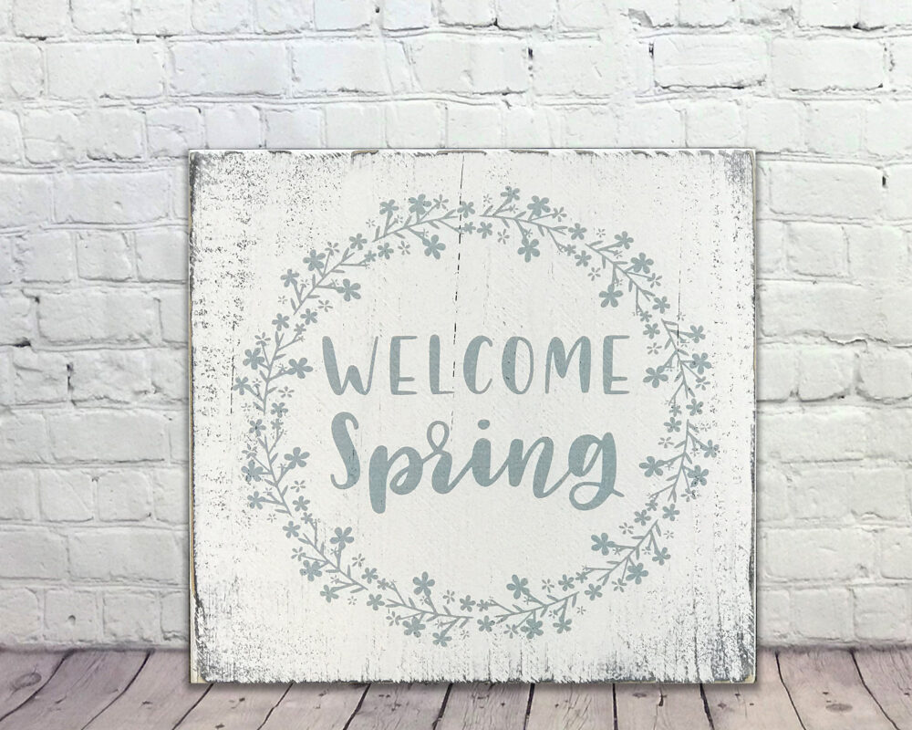 Spring Decor - Welcome Rustic Farmhouse Wall Gift For Mom Mother's Day