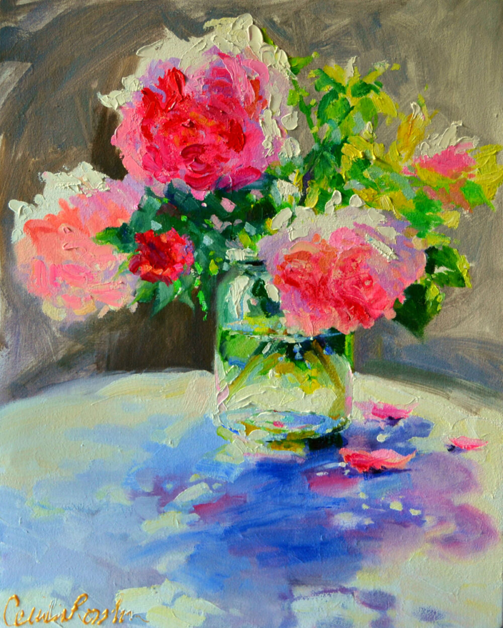 "Art Print Of ""N Paar Peonies 