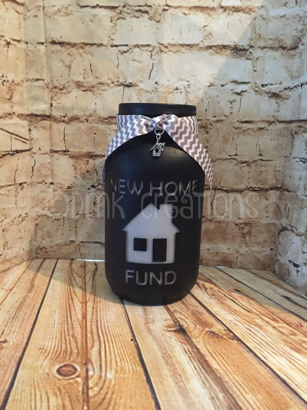 New Home Fund Painted Mason Jar Bank, New Home Fund, Home, Bank, Piggy Painted Mason Jar, Gift, Engagement Fund