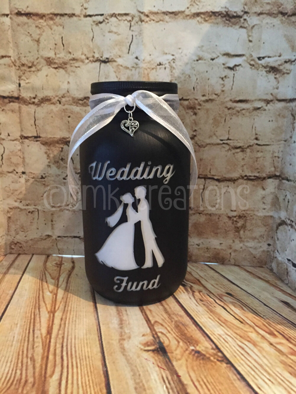 Wedding Fund Painted Mason Jar Bank, Wedding Fund, Wedding, Bank, Piggy Painted Mason Jar, Gift, Bridal Shower Fund