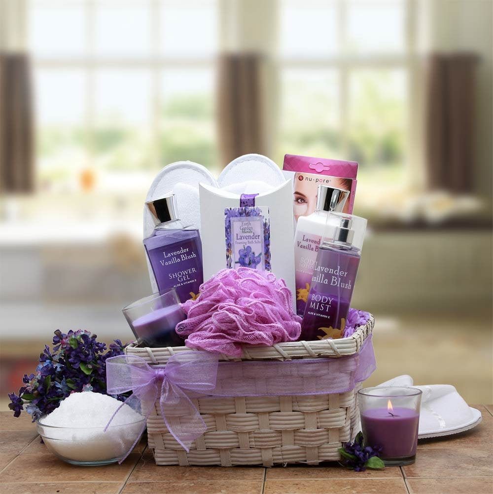 Women's Gift Baskets Spa Basket For Her Lavender Mother's Day