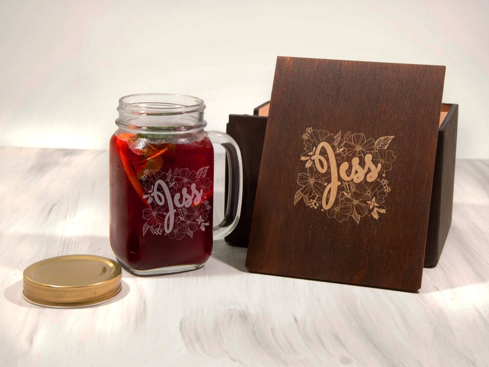 Gift For Her Personalized Mason Jar Custom Girlfriend Gift Engraved Glass Wife Mug Peronalized Sister