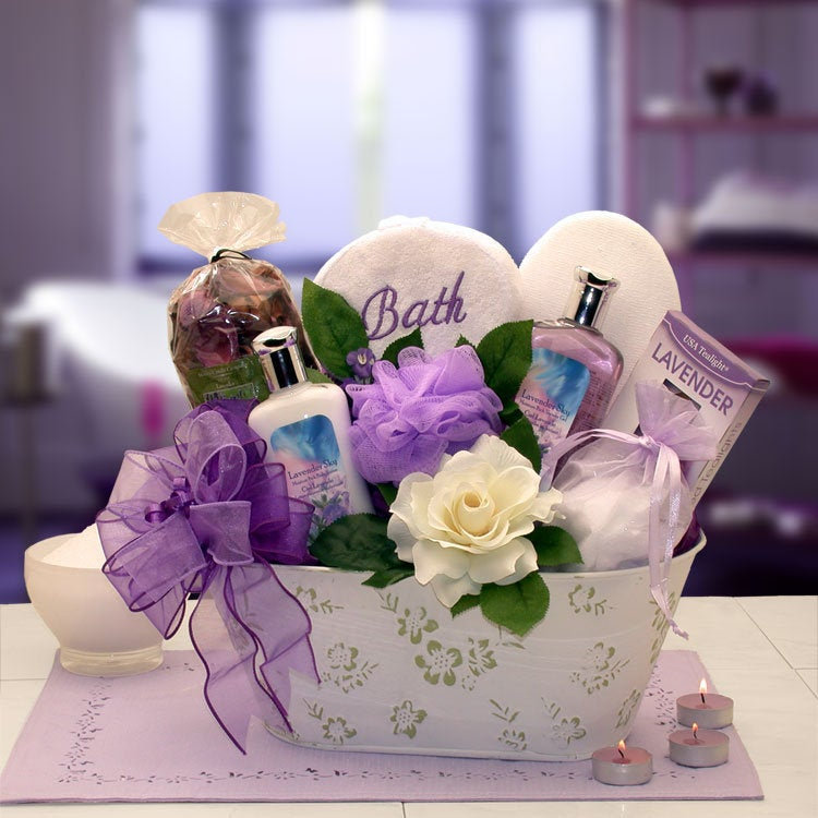 Women's Gift Baskets Spa Basket For Her Tranquil Delights Bath & Body Set Mother's Day