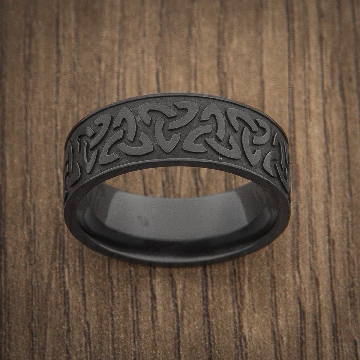 Wedding Ring Man, Celtic Band, Trinity Knotted