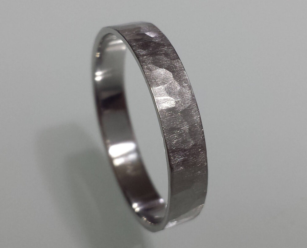 950 Platinum Wedding Band 1mm 2mm 3mm 4mm 5mm 6mm 7mm 8mm Hammered Comfort Fit Matte Brushed Flat Top Mens Platinum Thin Ring