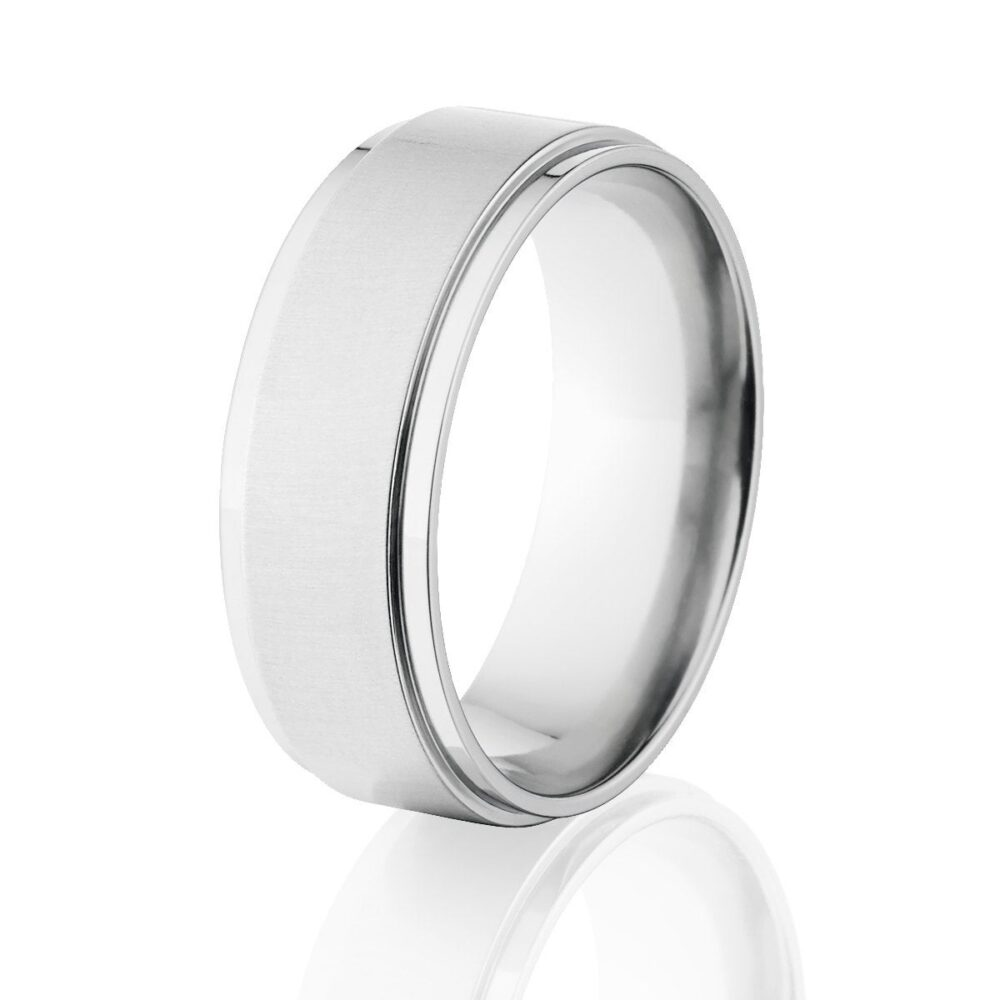 Cobalt Chrome Ring, Two Tone Finish, Wedding Bands Cb-8Rc-xbc