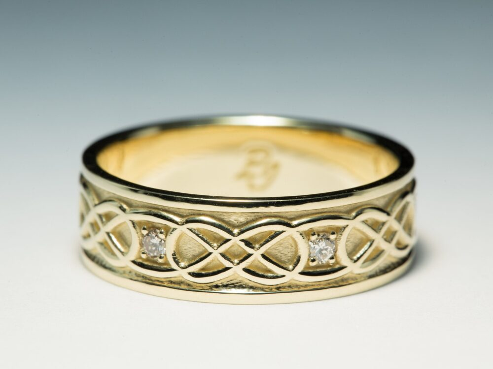 Celtic Wedding Band, Knot Ring, Ring Men, Celtic Diamond Ring, Celtic Ring, Mens Band, Men's Ring, Men's Infinity