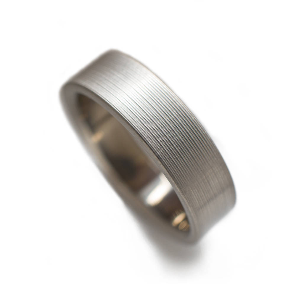 Classic Titanium Ring With Brushed Finish - Rings For Men, Wedding Bands Rings, Wedding Ring Ideas
