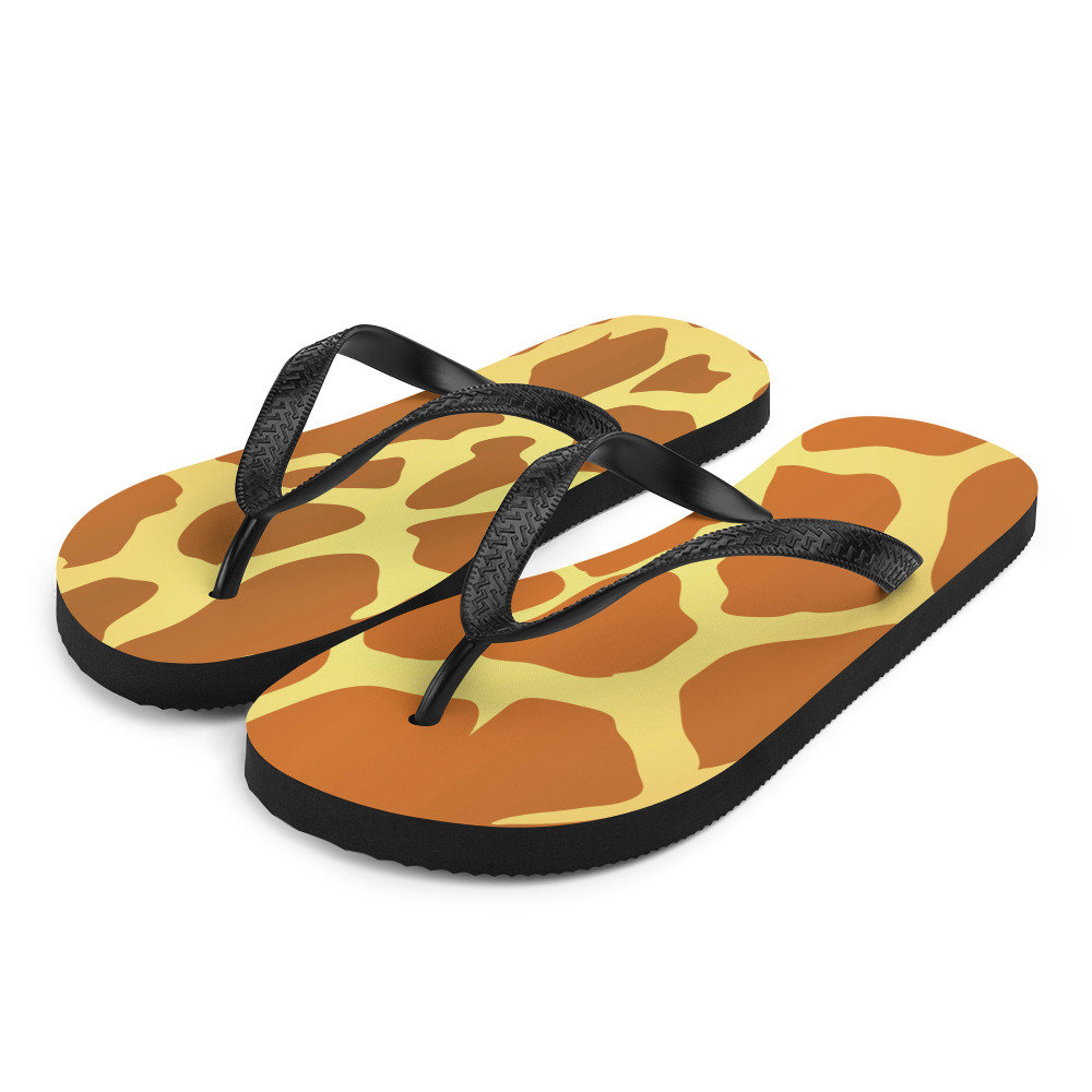 Animal Print Giraffe | Flip Flop Sandals Unique Slippers For Women & Men