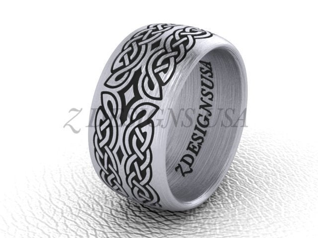 Celtic Band Ring Knot Wedding Sterling Silver