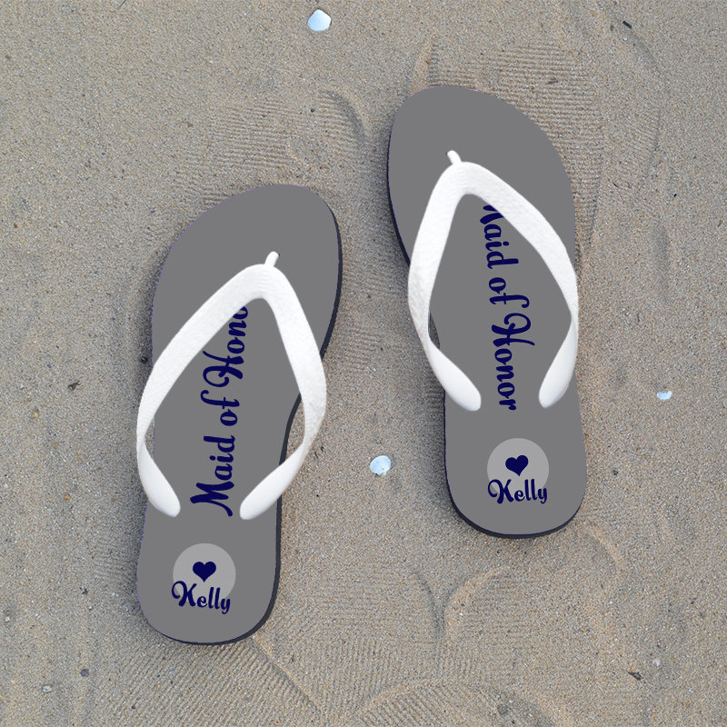 Personalized Flip Flops For Bride, Flops Bridesmaid