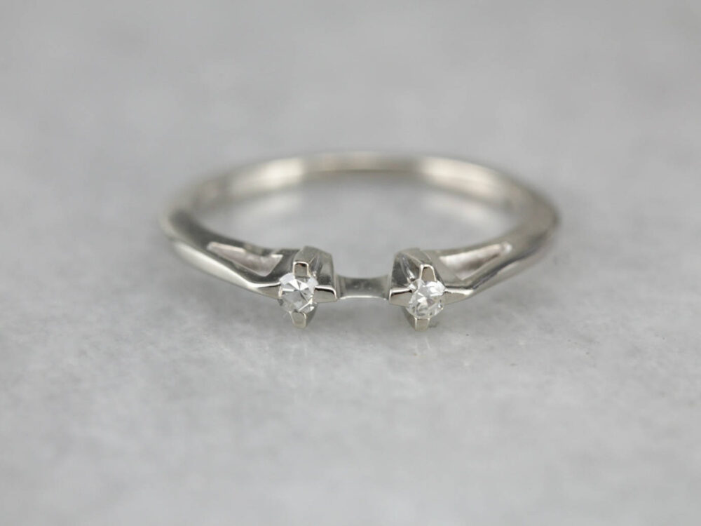 Solitaire Enhancer Ring, Diamond Enhancer, Wedding Band, Stacking Guard Band 5Y3P3687-D