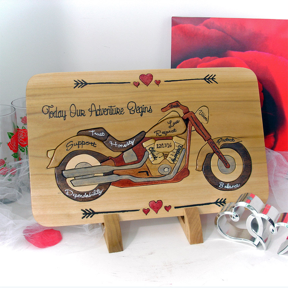 Harley Davidson Wedding Unity Puzzle Cool Dad Gift Personalized Fathers Day Ceremony Ideas Family