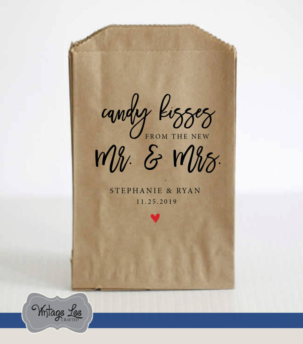 Wedding Favor Bags, Favors, Favors in Bulk, Candy Treat Personalized