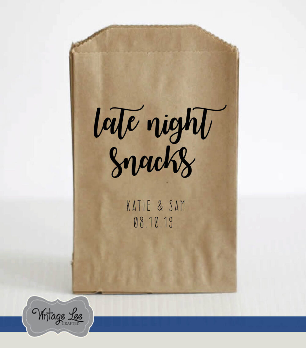 Wedding Favor Bags, Favors For Guests, Treat Goodie Favors, Snack Rustic