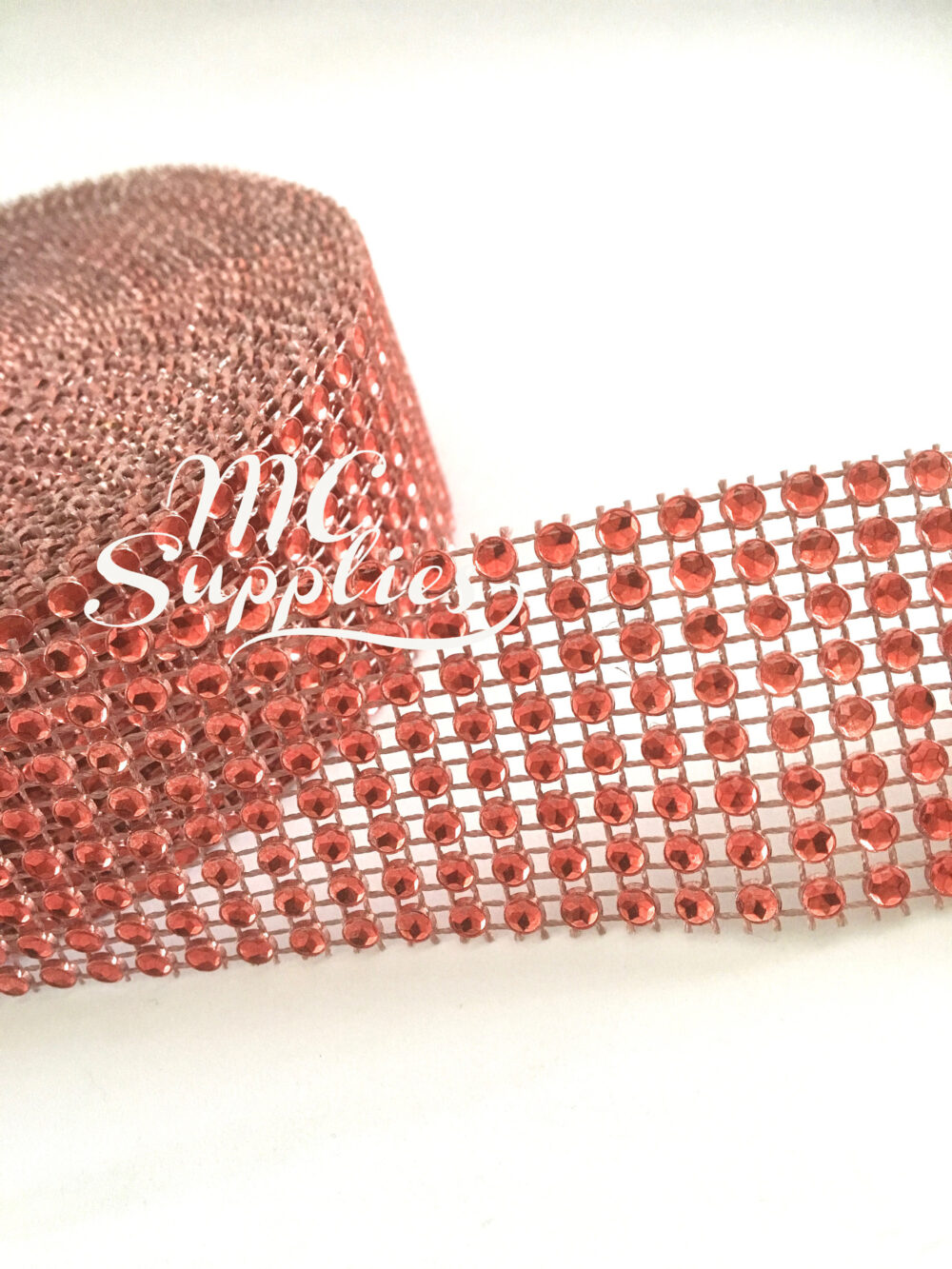Red Mesh, Diamond Mesh Ribbon, Jewel Ribbon, Mesh By The Yard, Wedding Mesh, Wedding Cake Decoration, Scrapbooking Rhinestone, 73