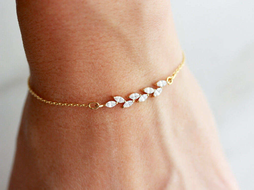 Dainty Bracelet/Crystal Delicate Femme Wedding Bridesmaid Gift Bride Stack Bgs 2