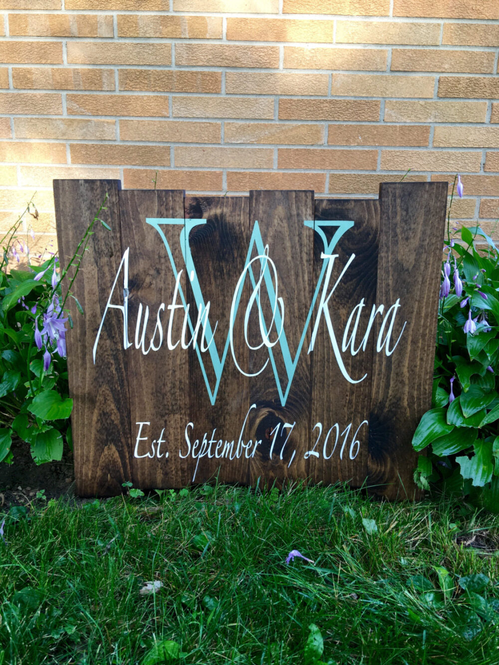 Custom Pallet Rustic Wood Wedding Established Sign Personalized/Family/Wedding/Rustic/Initial/Country/Wall/Name/Distressed