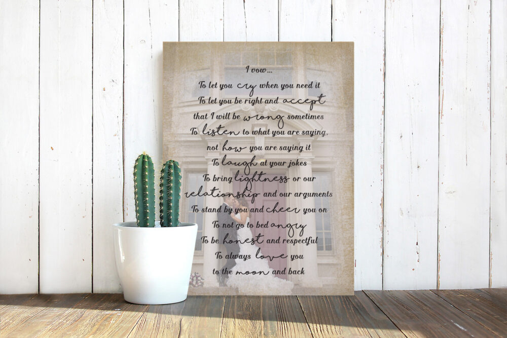 Personalized Wood Photo, Picture On Wedding Gift Reclaimed Wood Sign Rustic Portrait 5Th Anniversary Engagement Frame Transfer Print